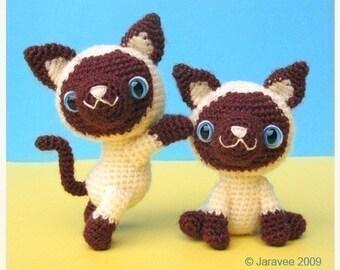 Siamese Kitten - PDF Crochet Pattern