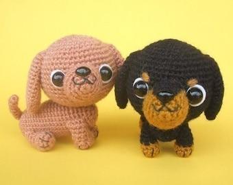 Dachshund Puppy - PDF Crochet Pattern