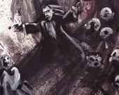 Vampire I - Original Framed Painting