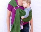 The Original Rustic Sling in Olive Green- for infant or toddler