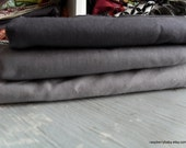 Fabric Scrap 2 1/3 yards Long Scrap Sale -KONA  Shades of Grey and Charcoal - 3 pieces