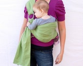 The Original Rustic Baby Sling in CELERY- Ring Sling for infant or toddler -