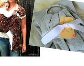 The ORiGinal Gauze - Solid Grey Cotton Gauze TWO LAYER Baby Sling - Summer Ring Sling