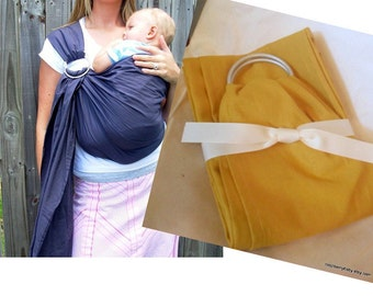 Honey Mustard Linen-blend Baby Sling - Ring Sling - More Colors Available