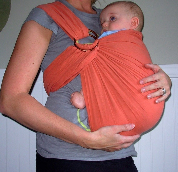Rustic Baby Sling - YOU CHOOSE COLOR - Ring Sling