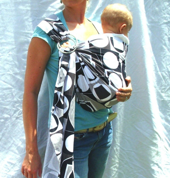 Modern Geometry Baby Sling - Ring Sling - Double Layer