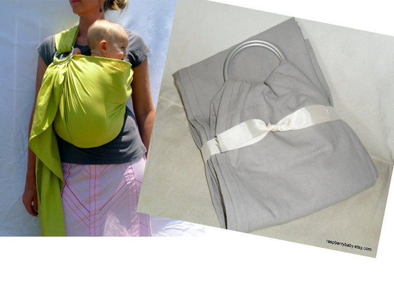 GREY linen-like dura-blend Baby Sling - Ring Sling - More Colors Available