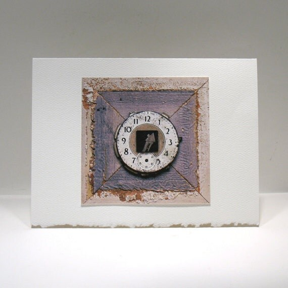 Love Card - Valentine - Time Art - House in Time - House of Time - Love in Time - Everyday Love Note - 5 x 6.75 Card