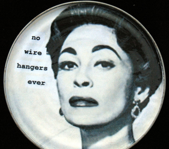 No Wire Hangers Ever Magnet. Recycled Tin Can Lid