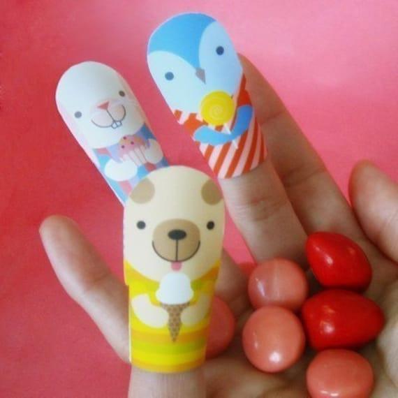Printable PDF Valentines - Finger Puppet Cards