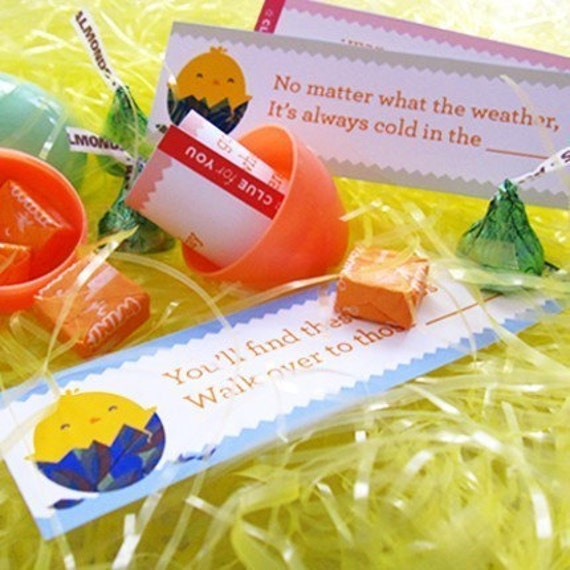 Easter Treasure Hunt Kit - PRINTABLE Riddle Clues and Planning Chart