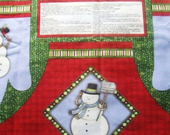 Christmas Apron With Mitts Panel Debbue Mumm Collection 100% Cotton