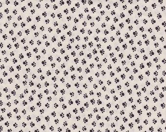 Mini Kitties Paw Print Cotton Fabric 24 x 42 Inch Piece, 100% Cotton, Last Chance.