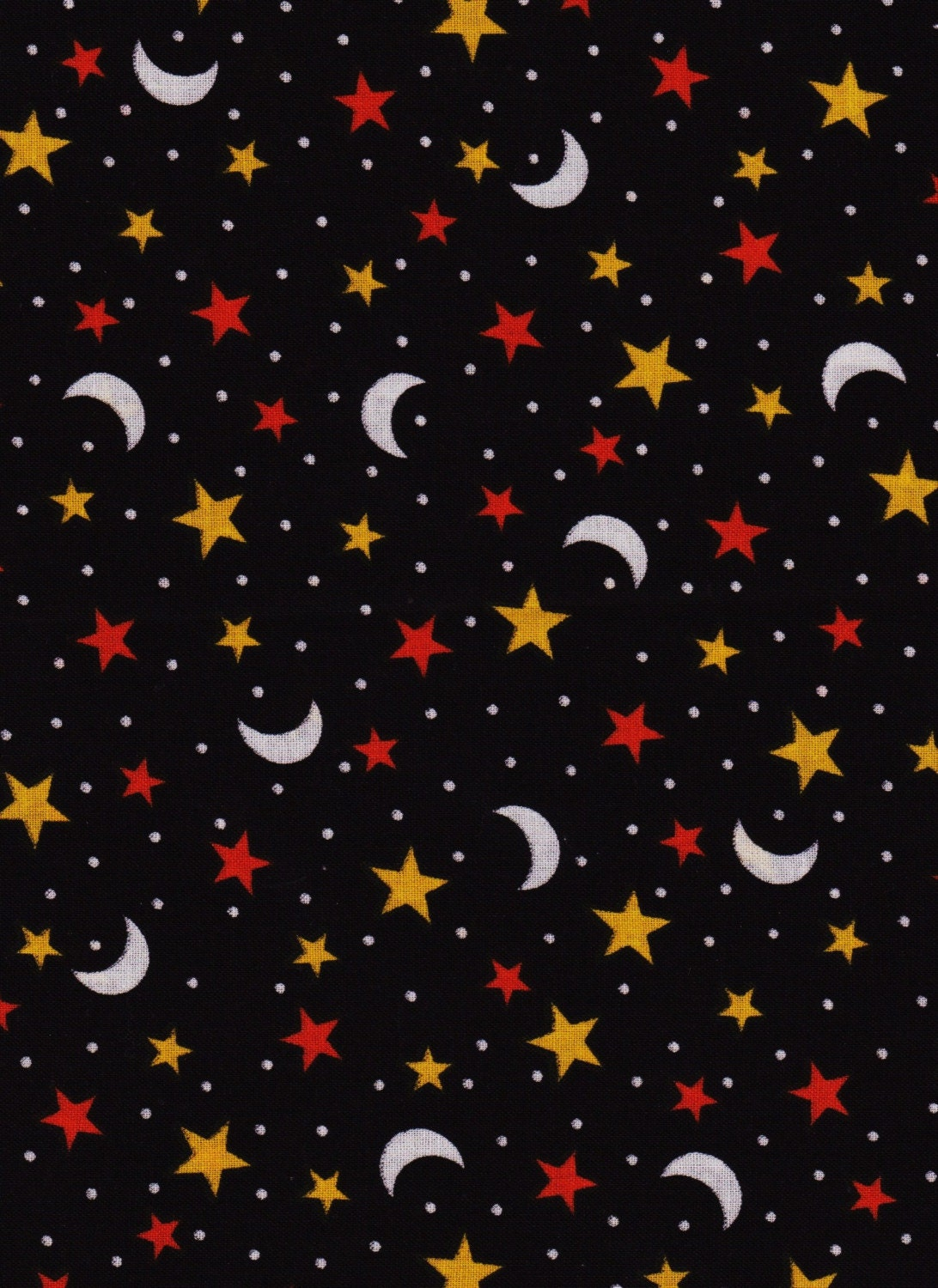 reserved for cherise moon and stars halloween fabric 2 yard
