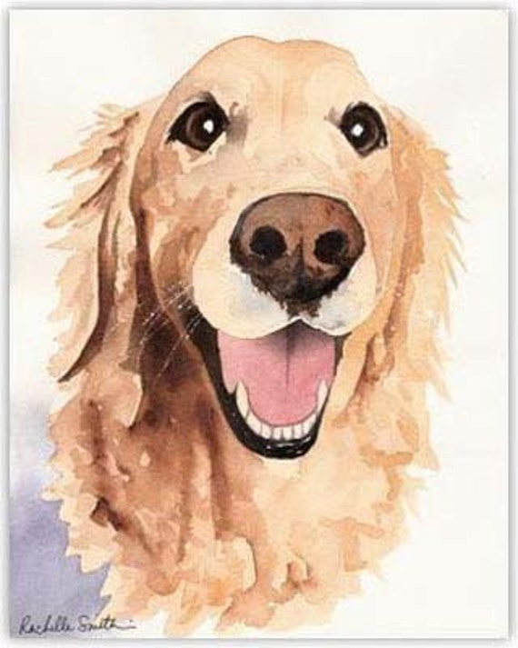how to draw a cute golden retriever