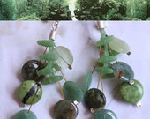 Aquarium Plants Earrings sterling silver silicone agat green turquoise gemstone modern style multicolor contemporary free shipping