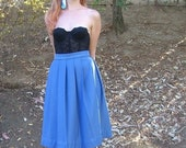 high waist pleated librarian skirt .extra small