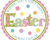 Personalized Easter Stickers, Easter, Candy, Easter Basket, Labels,  Seals, set of 12