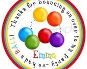 Ball Pit favor stickers, Ball Pit Party, Ball Pit Birthday Party, Bouncy House stickers, Bouncy house party, Children, Kids, labels, tags