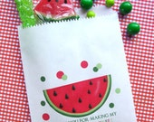Watermelon Birthday Party, Candy Bags, Favor bags, Watermelon party favors, Candy Buffet, Birthday party, Sweets, Treats