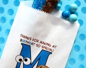 Cookie bags, Googly eyes, Cookie, Birthday Party, monster, chocolate chip cookies, Favor bags, candy bags, Treats