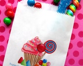 Personalized Candy Bags, Oh Sweet Candyland, Favor bags, Candy Buffet, Birthday party, Sweets, Treats