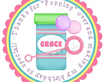 Bubble Stickers, Blowing Bubbles, Birthday party, Summer, Fun, Pool Party, Birthday, Children,Favor, Set of 12