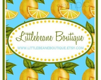 Lemon Stickers, Tropical Sweet Lemons, Stickers, Labels, Seals, Favor, Wedding, Bridal, fruit, lemons, set of 20 stickers