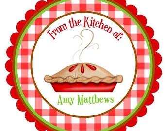 Applie Pie Baking Stickers,Kitchen stickers, Pie Stickers, Blueberry Pie, cooking, labels, seals, Favor,  Set of 12 stickers