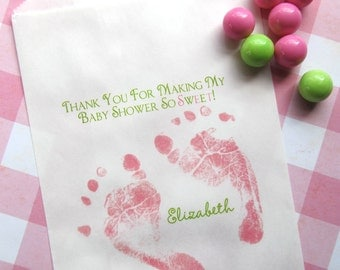 Baby Shower Candy Bags, Baby Feet, Favor bags, Sweets, Treats,  Choose any Design in my Shop