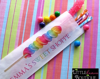 Candy Lollipop favor Bags, Lollipop Favor bags, Hot Colors, Favor bags, Candy Buffet, Birthday party, Sweets, Treats