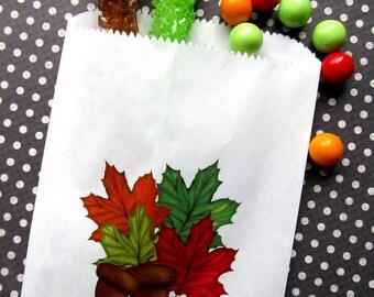 Wedding Candy Bags, Fall Wedding Favor bags, Candy buffet bags, Fall  wedding favors,Fall Leaves, Acorn, Wedding, Bridal Shower