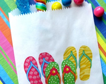 Flip Flop Birthday party, Flip flops,  Flip flop Favor bags, Flip flop candy bags, Candy Buffet bags, Birthday party, Sweets, Treat bags