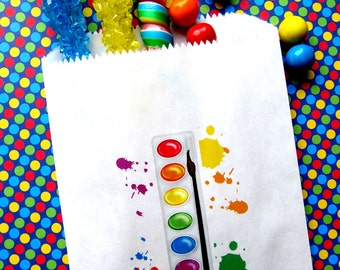 Art Birthday Party, Painting Party, Personalized Candy Bags, Favor bags, Candy Buffet, Birthday party, Sweets, Treats