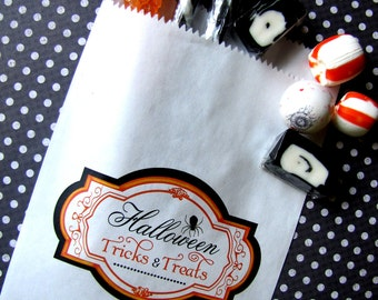Halloween candy  Bags,Vintage Halloween Candy sign, halloween treat bags,Personalized candy bags,Favor bags, Candy Buffet,Treat bags