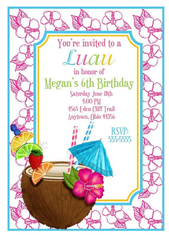 Personalized Luau Invitations for perfect invitations template