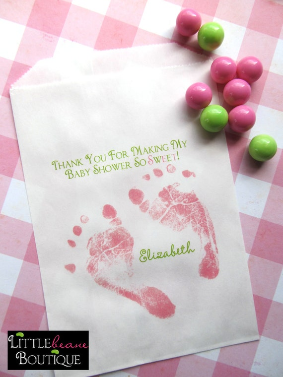 baby shower candy bags baby feet favor bags sweets treats choose