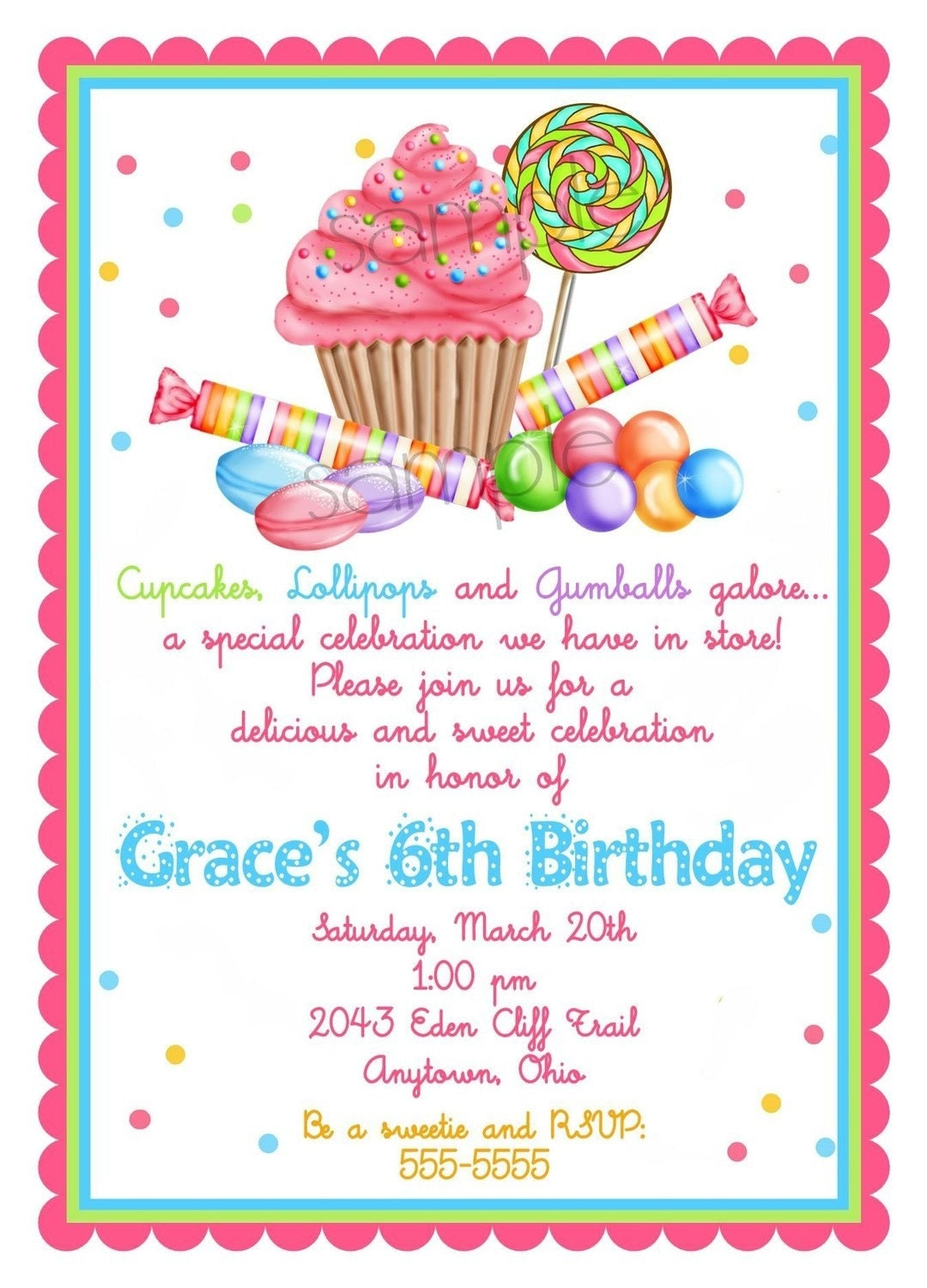 Candyland Party Invitations is one of our best ideas you might choose for invitation design