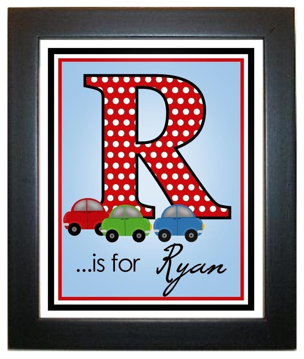 Etsy Initial Wall Decor : Personalized wall prints art by