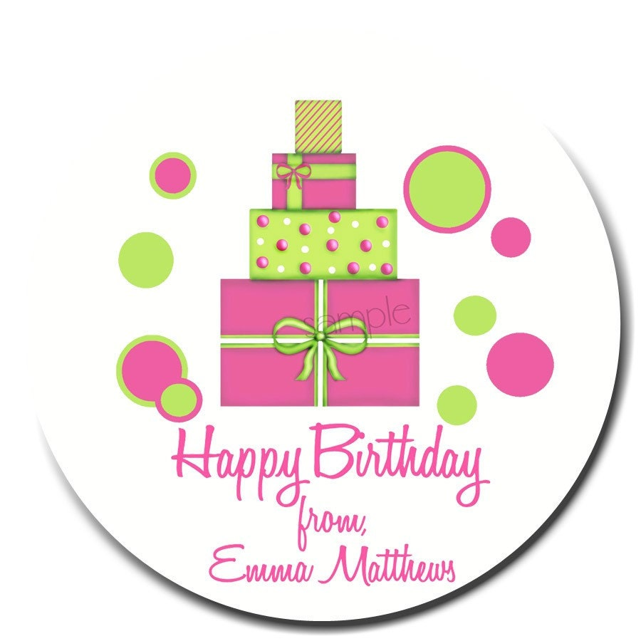 Birthday Gift Stickers Birthday Present Labels 3 COLOR