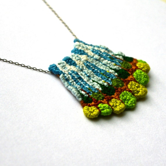 Landscape Pattern, necklace of earth and sky