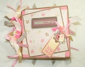 Baby Girl Paper Bag Scrapbook Album Great Gift  Baby Shower