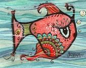 Emily the Fish - Limited Edition Fine Art Print - Children's Art