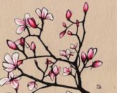 Spring Magnolia's (5x5 Signed Fine Art Giclee Print)
