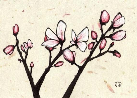 Magnolias no.1 (5x7 Signed Fine Art Print)