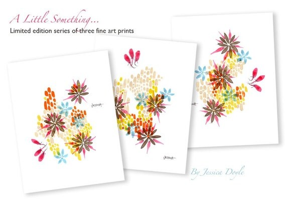 A Little Something - Limited Edition Series of 3 Fine Art Prints (small size)