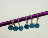 Turquoise Blue Stitch Markers Set of Six
