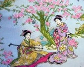Cotton Japanese Lady Print Fabric