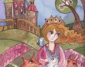 A Princess that loved animals Print
