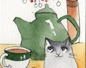 Still life with Cat  ACEO  print
